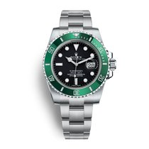 Rolex Submariner Date Steel Green Bezel LV Kermit Serial M
