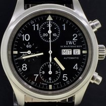 IWC Pilot Chronograph Black Dial 39MM Day-Date With Box