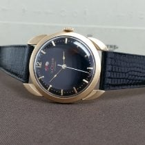 Jaeger-LeCoultre Yellow gold Automatic Black No numerals 34mm pre-owned