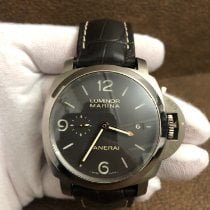 Panerai Luminor Marina 1950 3 Days Automatic folosit 44mm Maron Data Piele de crocodil