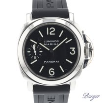 Panerai Chronometer 44mm Manual winding 2000 pre-owned Luminor Marina Black