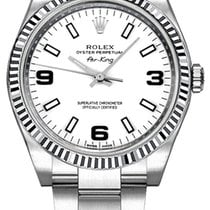 a2c47f60096 Rolex Oyster Perpetual Air-King White Dial Watch 114234