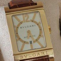 Bulgari Rettangolo Yellow gold 26mm White Arabic numerals