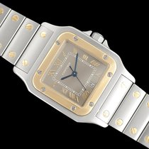 Cartier Santos Galbée pre-owned 32mm Grey Gold/Steel