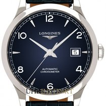 Longines Record Steel 38.5mm Blue