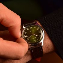Vostok pre-owned Manual winding 35mm Green Plexiglass Not water resistant