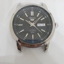 Seiko 5 Steel 43mm Black No numerals India, MUMBAI