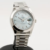 Rolex Day-Date II Platinum 41mm Blue No numerals