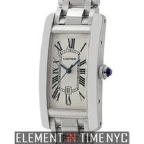 Cartier Tank Américaine new Automatic Watch with original box and original papers W26036L1