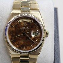 Rolex President Day Date Quartz 19018 18k Yellow Gold Wood...