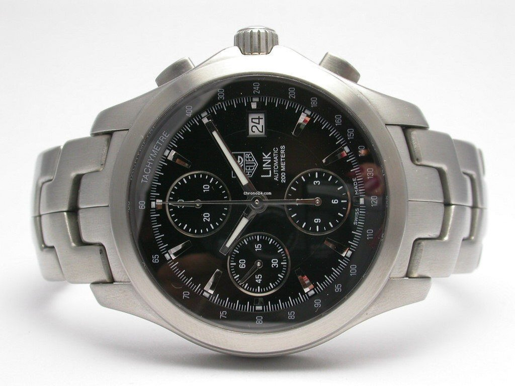 tag heuer link chronograph stainless steel mens watch