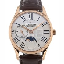 Zenith Elite Ultra Thin Lady 33mm Moonphase Guilloche Dial