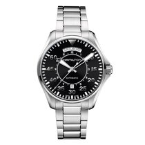 Hamilton 42mm Automatic new Khaki Pilot Day Date Black