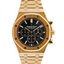 Audemars Piguet Royal Oak Chronograph pre-owned 41mm Black Chronograph Date Tachymeter Rose gold