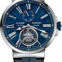 Ulysse Nardin Marine Tourbillon Steel 43mm Blue United States of America, New York, Airmont