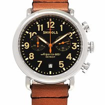 Shinola Chronograph 41mm Quartz new Black