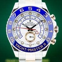 Rolex Yacht-Master II Ροζέ χρυσό 44mm Άσπρο Αραβικοί
