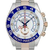 롤렉스 Yacht-Master II 금/스틸 44mm 흰색 숫자없음