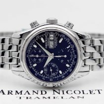 Armand Nicolet Steel 38mm Automatic 9048A-NR-M9040 new
