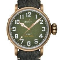 Zenith Bronze Automatik Grün 45mm neu Pilot Type 20