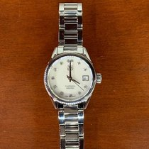 TAG Heuer Carrera Lady pre-owned 28mm White Date Steel