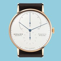 NOMOS Rose gold Manual winding White No numerals 42mm new Lambda