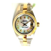 Rolex Datejust Lady's Steel and Gold Oyster Band with Custom...