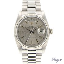 Rolex Day-Date White Gold Logo Dial