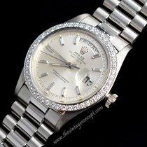 Rolex 1804 Platinum Day Date Diamond Index & Bezell