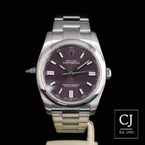 Rolex Oyster Perpetual Stainless Steel Red Grape Dial 36mm
