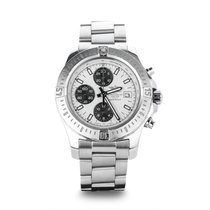 Breitling Colt Chronograph Automatic Stahl 44mm Silber Keine Ziffern