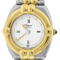 Chopard Ladies Chopard Gstaad White 23mm Quartz 18K Two Tone...