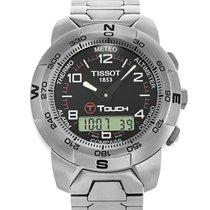Tissot 42mm Quartz 2008 pre-owned Touch (Submodel) Black
