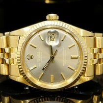 Rolex 18ct Yellow Gold 36mm Datejust, 1601, Boxed