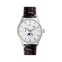 Zenith Captain Moonphase Zeljezo 40mm Srebro