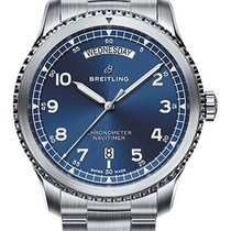 Breitling Navitimer 8 Steel 41mm Blue Arabic numerals United States of America, New York, New York