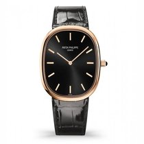 Patek Philippe Rose gold Automatic Brown 35mm new Golden Ellipse
