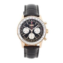 Breitling Rose gold Automatic Black No numerals 43mm pre-owned Navitimer 01