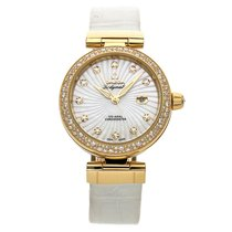 Omega De Ville Ladymatic pre-owned 34mm Mother of pearl Date Leather