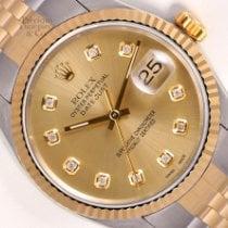 Rolex Datejust Arany/Acél 36mm Pezsgőszínű Számjegyek nélkül