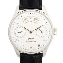 IWC Portuguese Annual Calendar Staal 44.2mm Wit