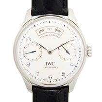 IWC Portuguese Annual Calendar Acier 44.2mm Blanc