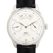 IWC Portuguese Annual Calendar Сталь 44.2mm Белый