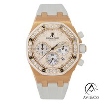 Audemars Piguet Royal Oak Offshore Lady Rose gold 37mm White No numerals
