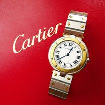 Cartier Santos (submodel) pre-owned 33mm White Steel