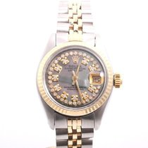 Rolex Ladies 2tone Datejust - Tahitian MOP String Diamond Dial...