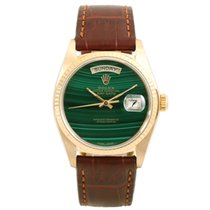 Rolex Day-Date 36 18038-malachite-leather 1970 gebraucht