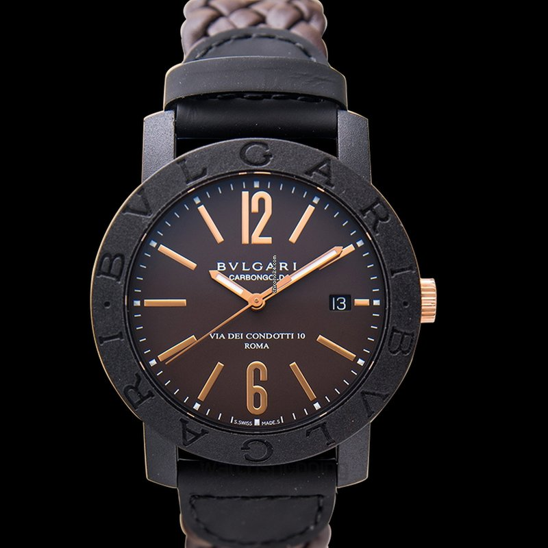 Bulgari Bvlgari Bvlgari Carbon Gold Brown Carbon-Gold Leather... for Rp.  28,049,148 for sale from a Trusted Seller on Chrono24 d1e997d55f