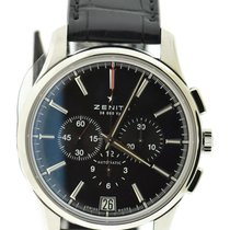 Zenith Captain Chronograph Steel 42mm Black No numerals United States of America, New York, New York