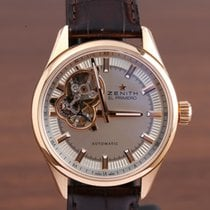 Zenith El Primero Synopsis pre-owned 40mm Champagne Leather